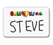 Dry Erase Name Tags with a Logo