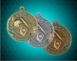 2 1/4 Inch Baseball Galaxy Medals