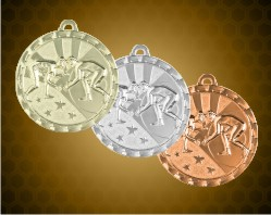 2 inch Wrestling Bright Medals