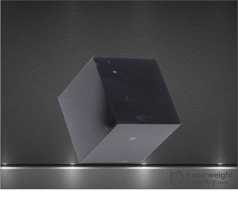 3 x 3 x 3 Inch Black Marble Cube Paperweight
