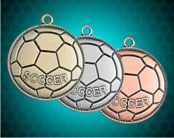 1 1/2 Inch Soccer Die Cast Medal