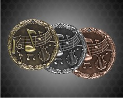 1 1/4 Inch Music XR Medal