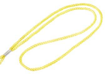 Yellow Round Woven Lanyard