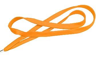 Orange Flat Woven Lanyard