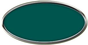 Blank Silver Framed Nametag Evergreen