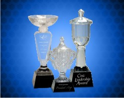 Crystal Cup with Black Pedestal Base