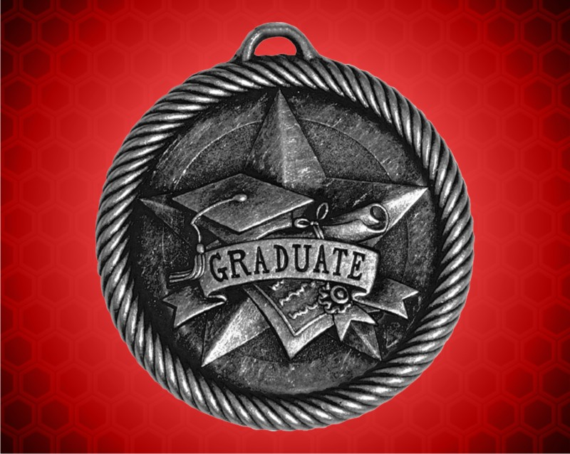 2 inch Silver Graduate Value Medal