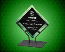 Green Galaxy Acrylic Plaques With Iron Stand