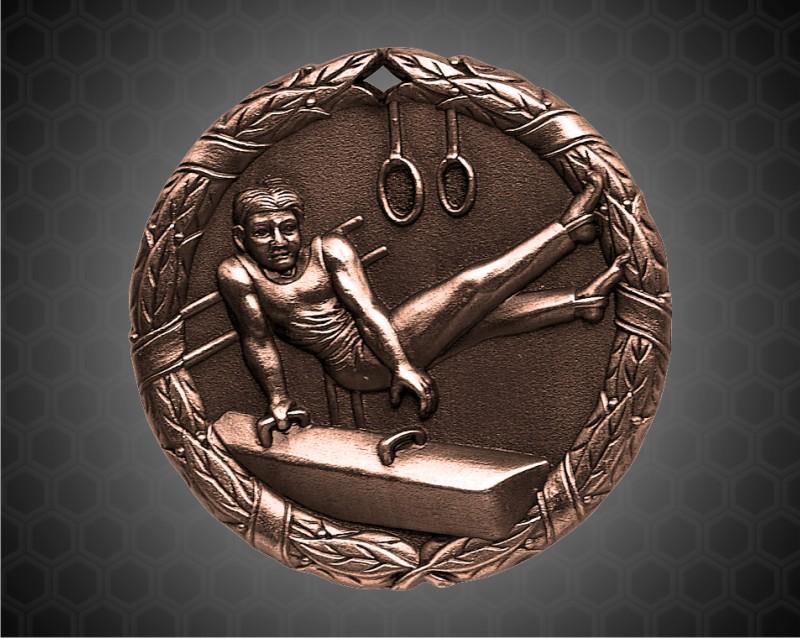 2 inch Bronze Gymnastics XR Medal