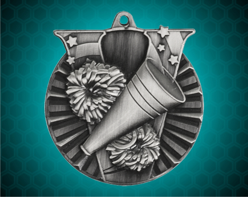 2 Inch Silver Cheer Victory Medal