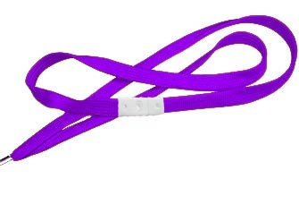 Purple Flat Woven Break-Away Lanyard
