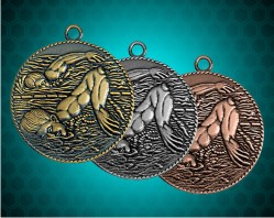 1 1/2 Inch Male Swimming Die Cast Medal