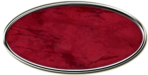Blank Silver Oval Framed Nametag with Port Wine
