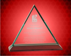 Beveled Triangle Jade Glass Award