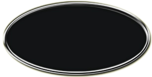 Blank Silver Oval Framed Nametag with Black