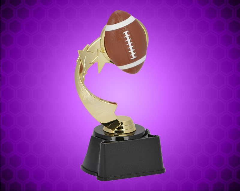 "7"" Football Ribbon Star Trophy"