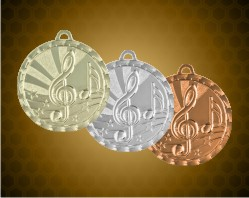 2 inch Music Bright Medals