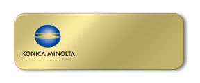 Blank Metal Name Tag with Logo: Shiny Gold