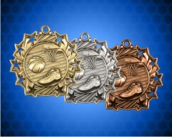 2 1/4 Inch Basketball Ten Star Medals