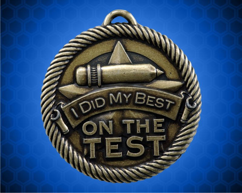 """2 inch Gold """"Did My Best"""" Value Medal"""