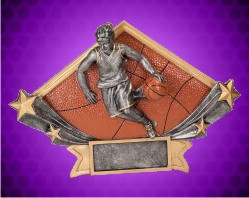 Female Basketball Diamond Star Resin