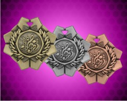 2 Inch Music Imperial Medal