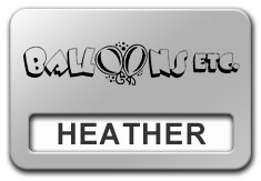 Reusable Smooth Plastic Windowed Name Tag: Shiny Silver with Black - LM922-334