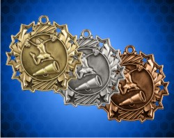 2 1/4 Inch Cheer Ten Star Medals