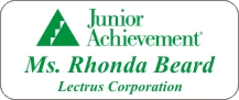 "Junior Achievement Name Tag 1 1/4"" x 3"" Reverse Lasered"