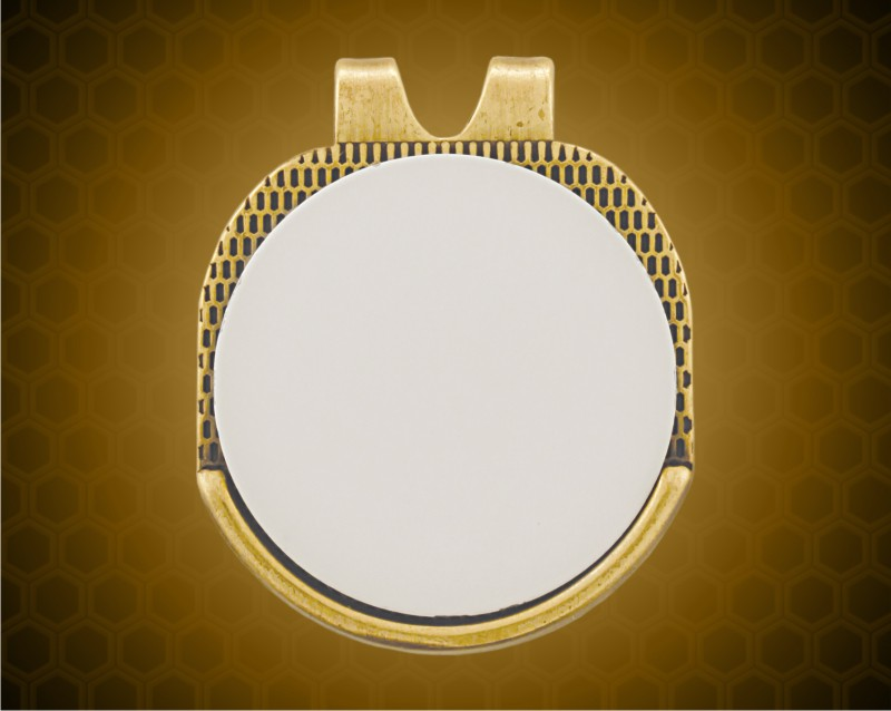 Gold Hat Clip with Golf Ball Marker
