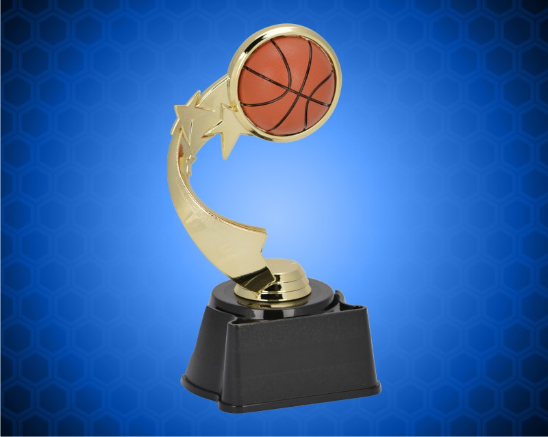 "7"" Basketball Ribbon Star Trophy"