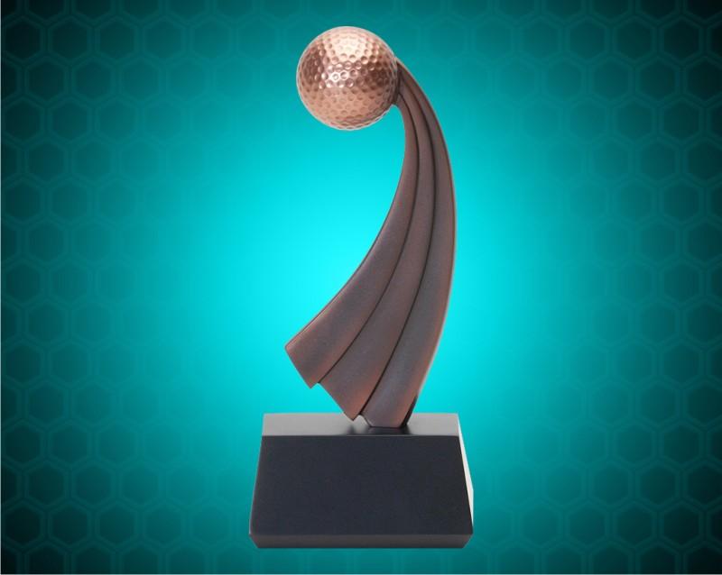 "10"" Golf Resins with Metallic Bronze Finish"