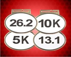 3 1/4 inch Marathon Oval Running Medals