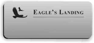 Blank Smooth Plastic Name Tag with Logo: Smooth Silver and Black - LM 922-344