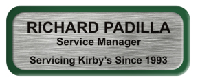 Metal Name Tag: Brushed Silver with Green Metal Border
