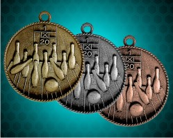 1 1/2 Inch Bowling Die Cast Medal