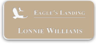 Smooth Plastic Name Tag: Ultra-Matte Beige with white -  322-832