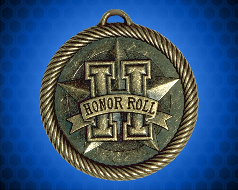 2 inch Gold Honor Roll Value Medal