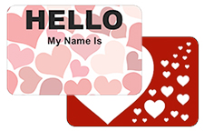Hello My Name Is Valentines Stickers