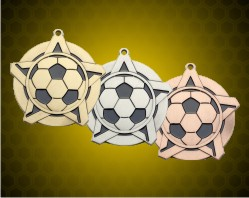 2 1/4 inch Soccer Super Star Medals