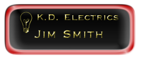 Metal Name Tag: Black and Gold with Epoxy and Shiny Red Metal Border