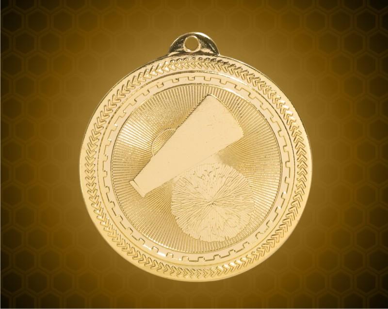 2 inch Gold Cheer Laserable BriteLazer Medal