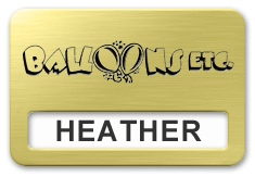 Reusable Smooth Plastic Window Name Tag: European Gold with Black -  LM 922-754