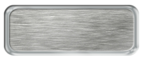 Blank Brushed Silver Nametag with a Shiny Silver Metal Border