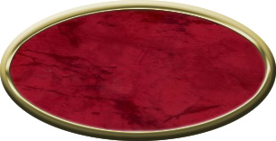 Blank Oval Plastic Gold Nametag with Port Wine