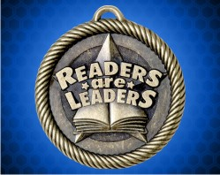 """2 inch """"Readers Are Leaders"""" Value Medal"""