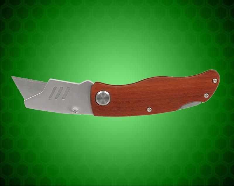 "4"" Wood Handle Utility Knife"