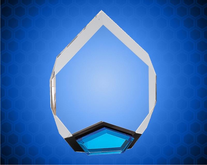 6 x 8 Inch Blue Marquis Acrylic