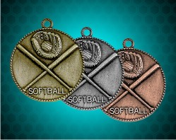 1 1/2 Inch Softball Die Cast Medal