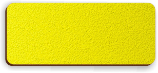 Blank Textured Plastic Name Tag: Acid Yellow and Dark Brown - 822-778